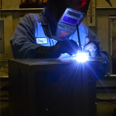 Cole Kepro - Fabrication worker welding